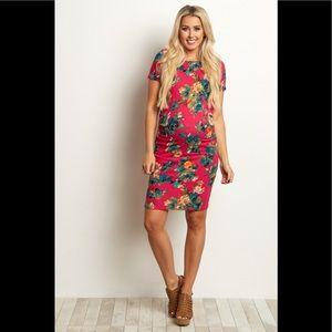 Pinkblush floral maternity dress size medium